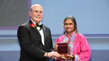 Manika Prasad is awarded the Virgil Kauffman Gold Medal from Society of Exploration Geophysics