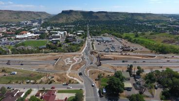 Aerial photo of new interchange at U.S. 6 and 19th Street in Golden