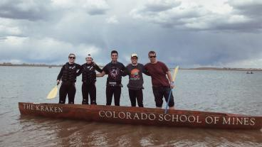 The 2019 Mines Concrete Canoe team at regionals