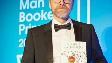George Saunders with the 2017 Man Booker Prize