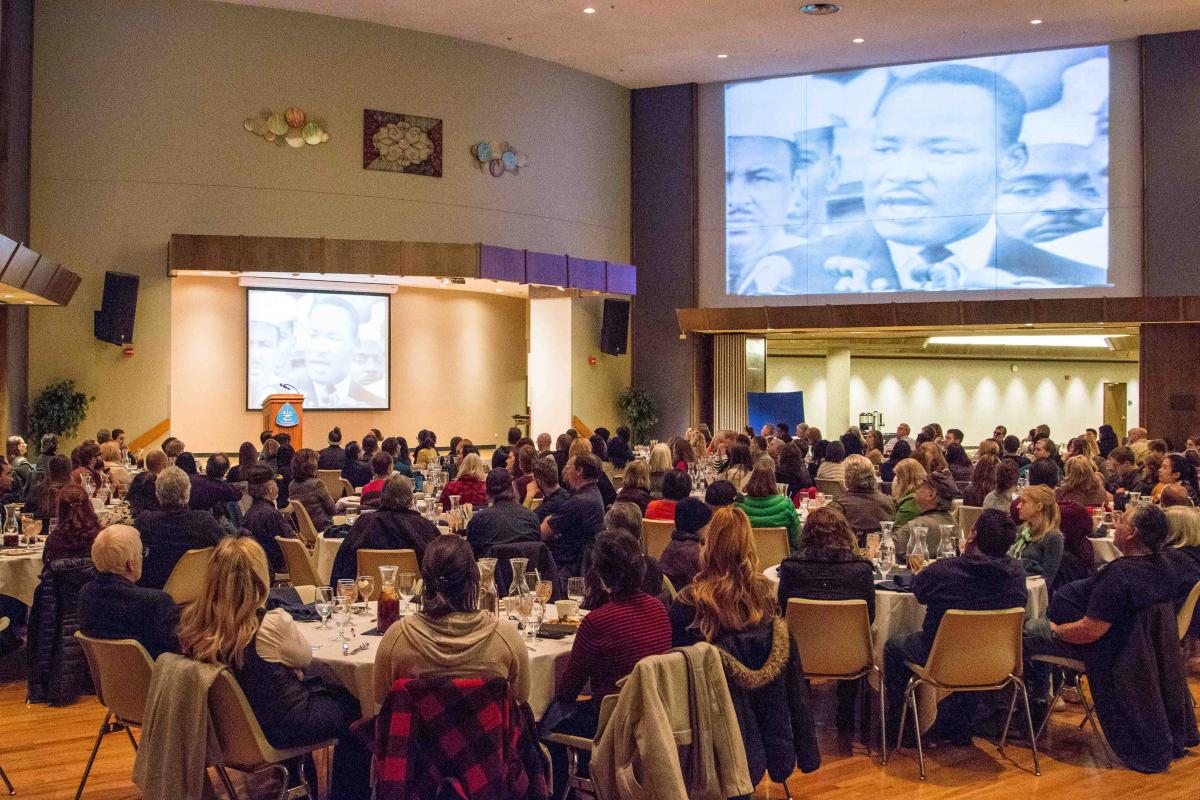 MLK speech in Friedhoff Hall