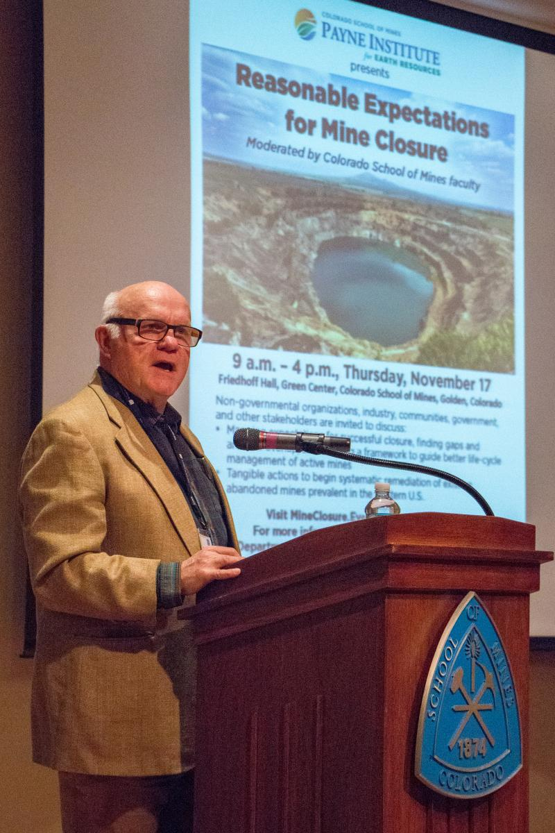 David Holm, Executive Director of the Clear Creek Watershed Foundation addresses the summit attendees.