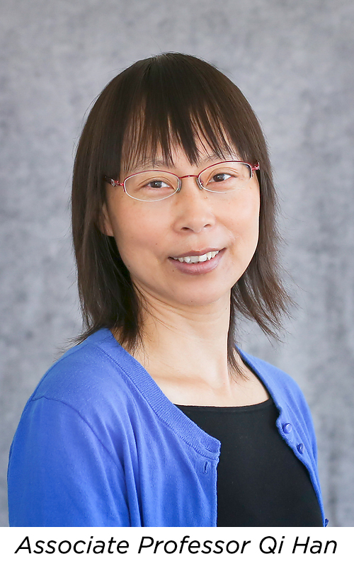 Headshot photo of Qi Han, associate professor of Computer Science