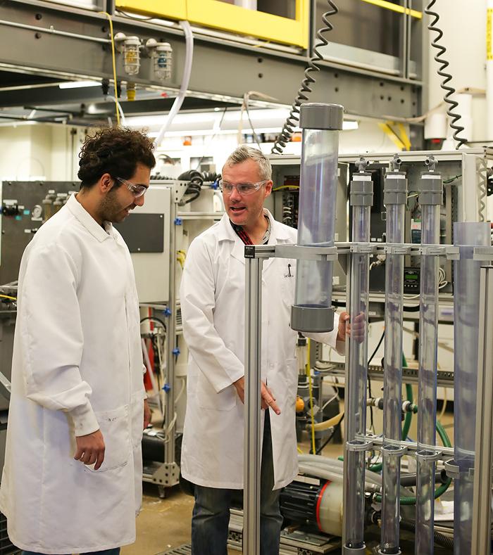 Dr. Chris Bellona and graduate research assistant Hooman Vatankkhah